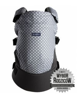 Nosidełko ergonomiczne Care Grochy szaro srebrne