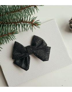 Lila czarna z brokatem