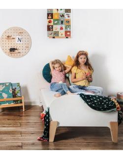 Łóżko dziecięce białe retro 80x160 z barierką (opcjonalnie z szufladą i materacem)