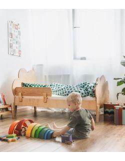 Łóżko dziecięce ze sklejki Cloud 80x180 z barierką (opcjonalnie z szuflada i materacem)