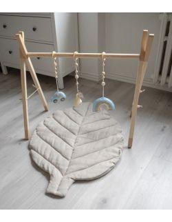 ZESTAW (mata beżowa + baby gym beżowy + zawieszki)