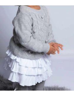 by royal baby biała spódniczka z falbankami dla dziewczynki White Dream