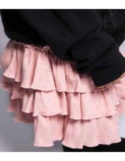 by royal baby sportowa spódniczka z falbankami dla dziewczynki Pink dream
