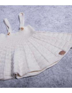 by royal baby wełniana kremowa sukienka dla dziewczynki little girl