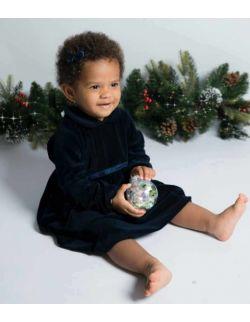 By royal baby świąteczna aksamitna sukienka dla dziewczynki Lisa