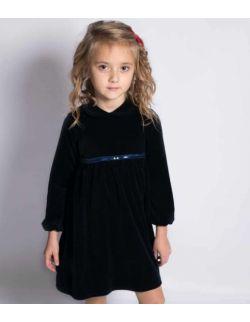 By royal baby elegancka wizytowa aksamitna sukienka dla dziewczynki Lisa
