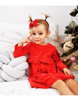 Sukienka - Czerwona Falbanka