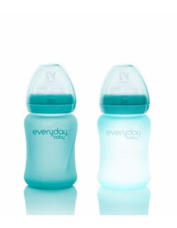 Szklana butelka ze smoczkiem S reagująca na temperaturę, 150 ml, Everyday Baby, różne kolory