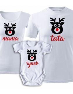 Świąteczny zestaw rodzinny RENIFERY mama tata synek