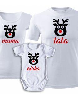 Świąteczny zestaw rodzinny RENIFERY mama tata córka