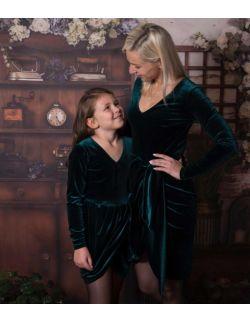 by royal baby edition Luna aksamitna elegancka sukienka dla mamy
