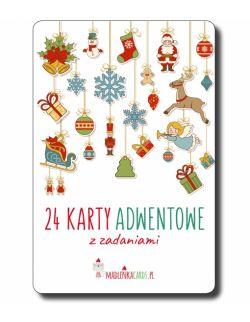 24 karty adwentowe z zadaniami