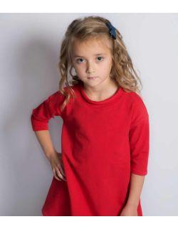 Czerwona bawełniana sportowa sukienka tunika dla dziewczynki Cherry