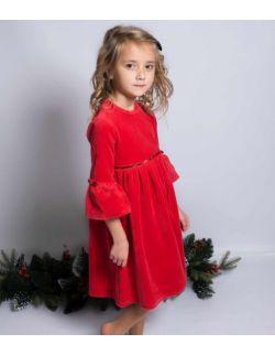 By royal baby elegancka aksamitna sukienka dla dziewczynki Star