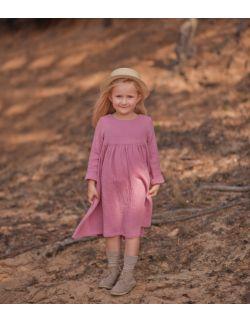old pink muślinowa sukienka