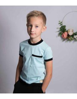 Bluzeczka t-shirt sportowy bawełniany dla chłopca Blue