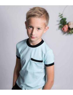 by royal baby bluzeczka t-shirt sportowy bawełniany dla chłopca Blue