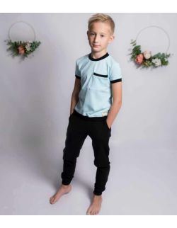 by royal baby spodnie sportowe dresowe chłopięce czarne