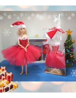 Edycja świąteczna sukienka dla lalki