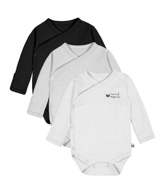 Body kimono DR 3-PAK biały szary czarny 62