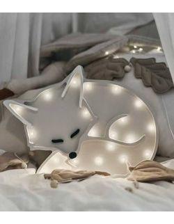 Lampka happy fox grey lis