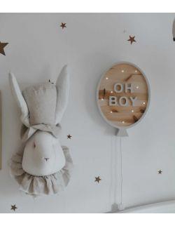 Lampka happy balon szary oh boy