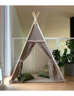 Len & Bawełna– tipi, namiot dla dzieci z matą podłogową