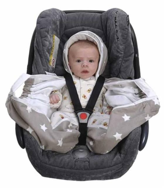 Snugglebundl Grey Star kocyk do fotelika