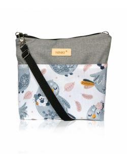wodoodporna torebka dla dziewczynki Ninki® ( niebieski ptak na białym tle )
