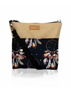 wodoodporna torebka dla dziewczynki Ninki® (łapacz snów na czarnym tle )
