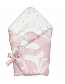 Rożek niemowlęcy – różowa abstrakcja/lastryko
