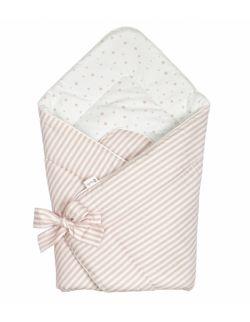 Rożek niemowlęcy – beżowe kropki/paski
