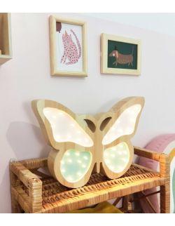 Drewniana lampka Motyl