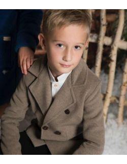 Classic stylowy elegancki płaszczyk chłopięcy marynarka retro