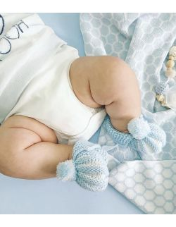By Royal Baby wełniane buciki niemowlęce do chrztu wyprawka prezent handmade