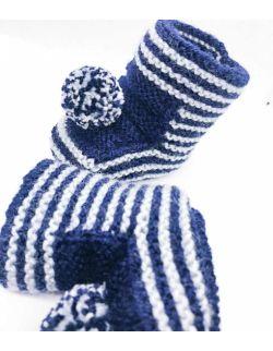 By Royal Baby wełniane buciki papcie niemowlęce prezent wyprawka handmade