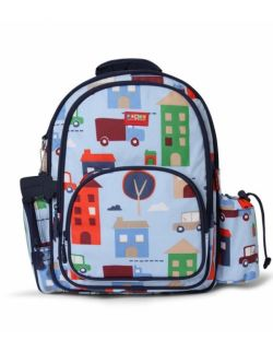 Plecak z kieszeniami, Autka, niebieski, Penny Scallan