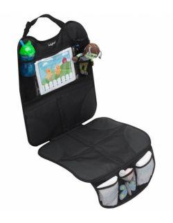 Mata ochronna do samochodu z miejscem na tablet do fotelików tyłem i przodem do kierunku jazdy