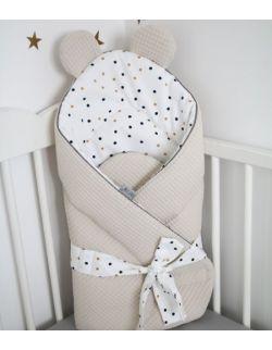 Rożek niemowlęcy Sweet Confetti & Beige