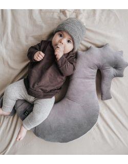 Poduszka do karmienia Konik morski NEPTO- smoky grey