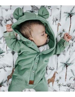 Starter niemowlęcy safari: kokon + pościel + rożek