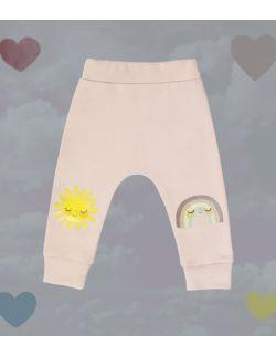 spodnie z tęczą i słoneczkiem