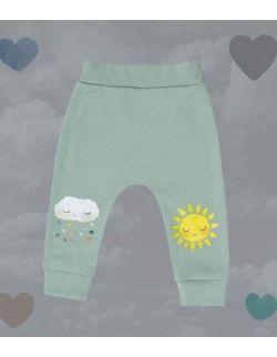 Spodnie ze słoneczkiem i chmurką
