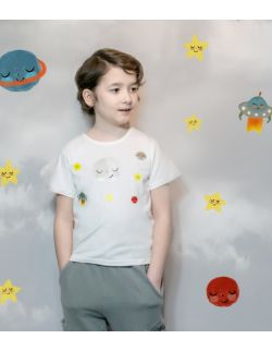 t-shirt z księżycem