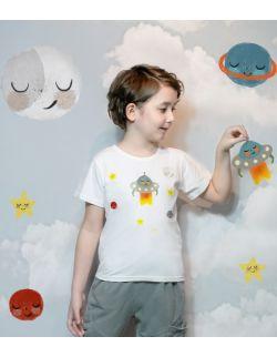t-shirt z ufoludkiem