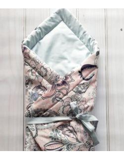 Rożek niemowlęcy wiązany etno rose baby