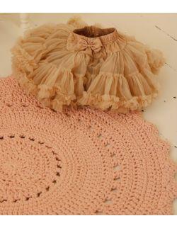 Ręcznie pleciony dywanik bawełniany w kolorze pudrowego różu BOHO