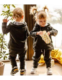 Szare spodnie dla chłopczyka i dziewczynki