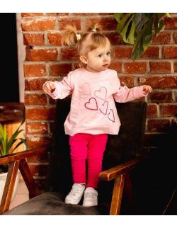 Różowa bluza z serduszkami