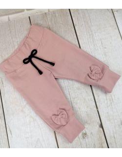 Spodnie kokardki ze ściągaczami róż